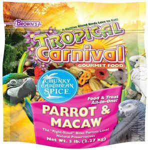 6d096ab24a Browns Tropical Carnival Chunky Caribbean Spice Parrot & Macaw Food-2.27KG
