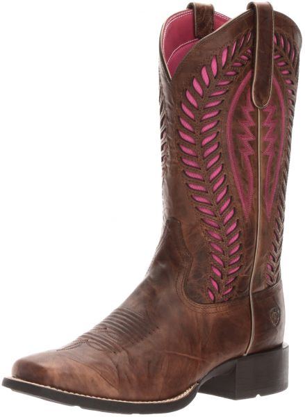 7bf1e6c1985 Ariat Women's Quickdraw Venttek Western Cowboy Boot, Barn Brown, 8 B US