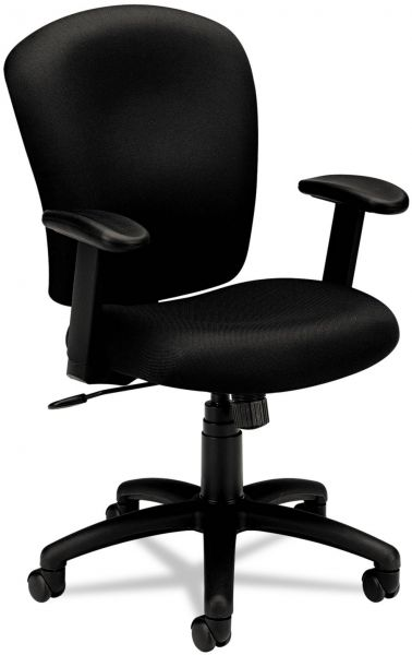 souq hon mid back task chair fabric computer chair with arms for