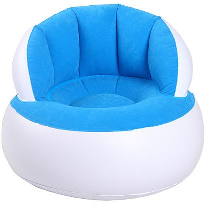 Inflatable Chair Air Sofa Bean Bag Lounge For Home Office Bedroom Living Room Child Kid White And Blue Souq Uae