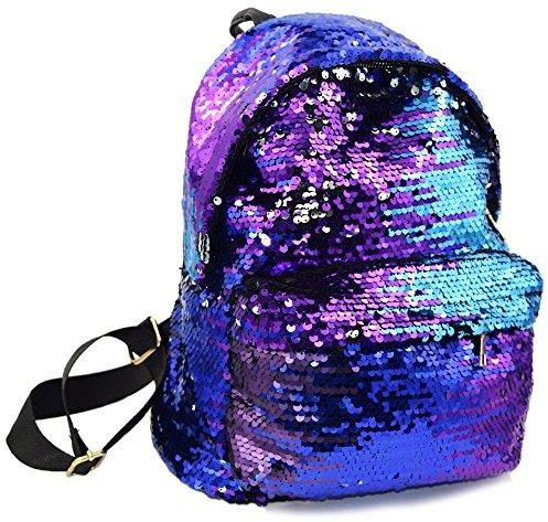 b5bb75f77c35 Small Backpack Purse Bling Magic Reversible Sequins Backpack School Mini  Bags for Teens Women MorningFlowers
