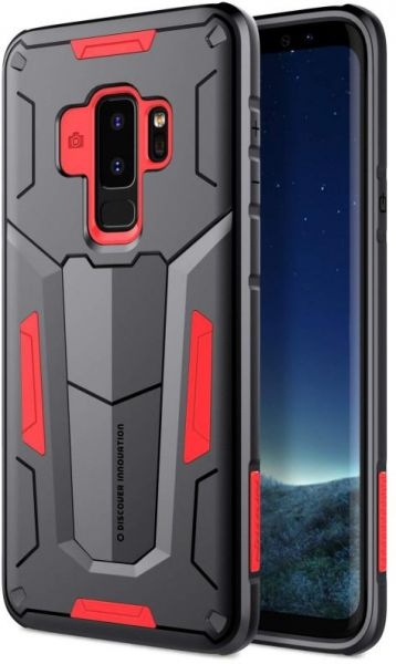 cheaper 8e0f9 a895a NILLKIN Samsung Galaxy S9 Plus Case, Defender Ultimate Protection Black and  Red