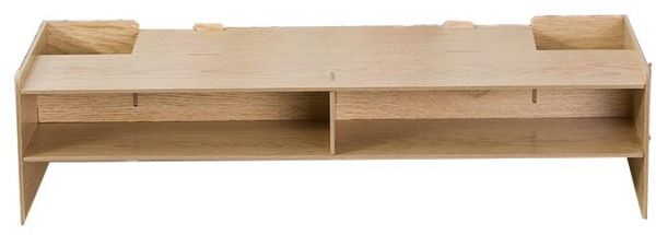 Diy Desktop Monitor Stand Wooden Monitor Riser With Storage Slots