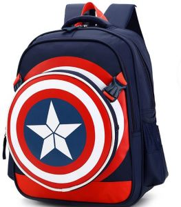 c719ac171939 Captain America Shield School Bag for 8- 15 Ages Kids Children Student Backpack  school Bag