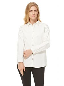 aaed9e1dd1511a Buy women summer lace stitched shirt and blouse white
