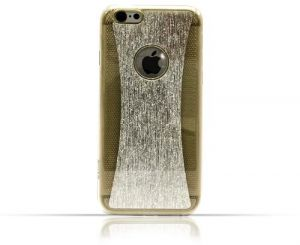 Iphone 6 / 6s TPU Dual Layer Semi Transparent Case with Shining Silver Design