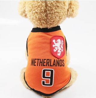 3ccc120b1e3 Small Animals Clothes Football T-shirt Dogs Costume National Soccer ...