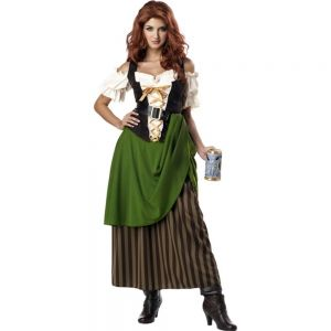 california costumes tavern maiden adult costume olivebrown small