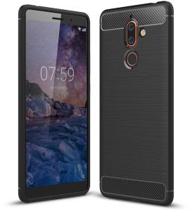 KEYSION NOKIA 7 Plus Case, Flexible TPU, Black