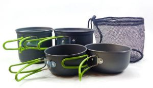 Cookware Outdoor Stove Multi-layers Pan Camping Hiking Backpacking 2-3 People Cooking Picnic Bowl Pot-XX