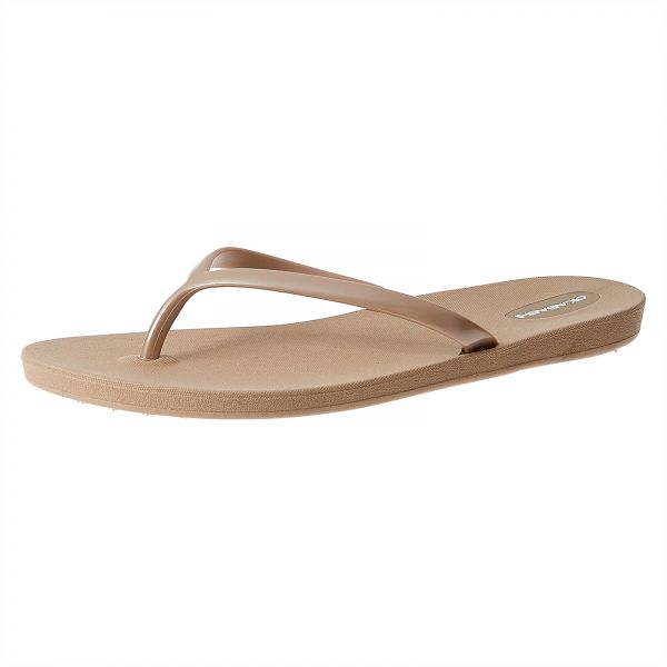 7449679e6da Okabashi Shoreline Metallic Flip Flops for Women - Aged Gold
