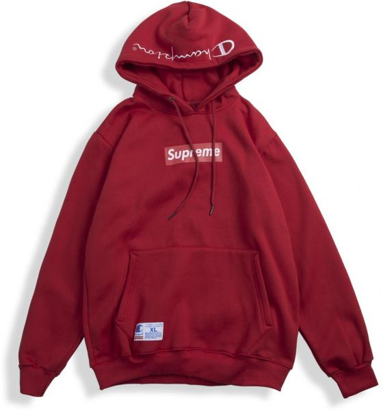 Supreme X Champion Box Logo Hoodie for Unisex a9785f2865