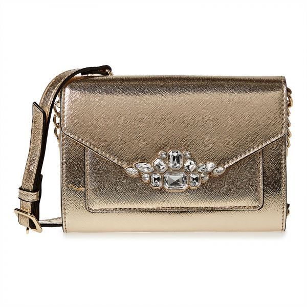 Nine West Bag For Women,Gold - Crossbody Bags