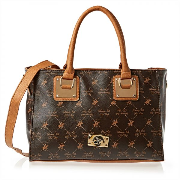 Beverly Hills Polo Club Bag For Women Brown Satchels Bags