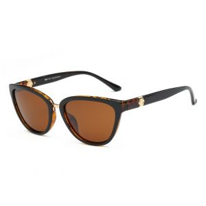 87ce6508ee DONNA Women's Vintage Polarized Cat Eye Sunglasses Oversized Trendy  Celebrity Style D64(Brown Amber)
