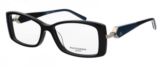 Ana Hickmann Glasses Frame ,For Unisex ,Acetate ,Black ,6153-A01 ... fd898ad96c