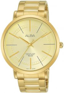 Alba Casual Watch For Men Og Yellow Gold Plated Ah8398x1
