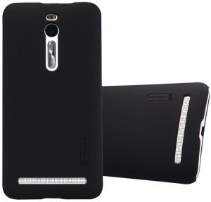 ASUS Zenfone 2 ZE551ML Nillkin Super Frosted Shield Back Case Cover -Black + Free Clear Screen Protector By Muzz