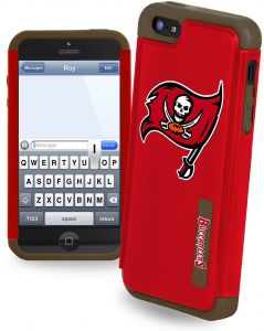 Forever Collectibles NFL Dual Hybrid iPhone 5 5S Rugged Case - Retail  Packaging - Tampa Bay Buccaneers 2eb8882fa