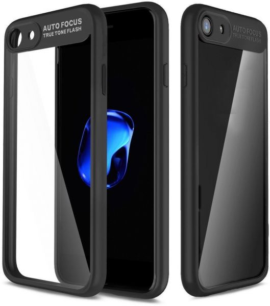 Auto Focus Back Cover For Oppo A83 - Black