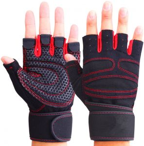 Fitness Gloves Gym Weight Lifting Body Building Exercise Workout Half Finger Gloves For Men L