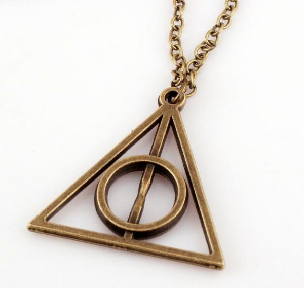 Buy Inverted Triangle Harry Potter Deathly Hollows Geometric Bronze