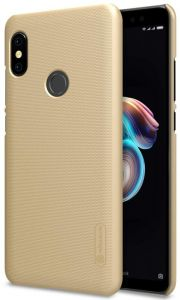 Nillkin Frosted Shield Back Cover for Xiaomi Redmi Note 5 Pro With Screen Guard - Gold