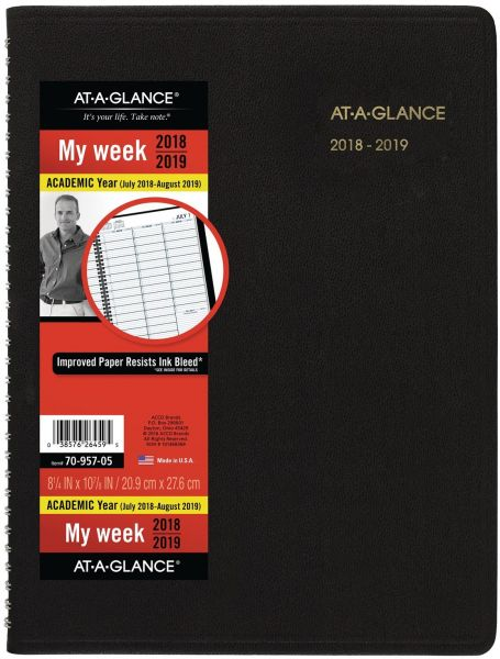 at a glance academic weekly planner appointment book july 2018