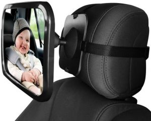 Baby Car Backseat Safety Mirror Wide Convex Adjustable Shatter Proof Give Clear View Of Infant In Rear Facing Seat