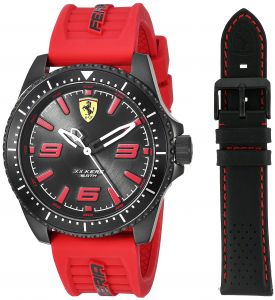 7e8c5376ad7ff Ferrari XX Kers Men s Black Dial Silicone Interchangeable Band Watch Set -  830484