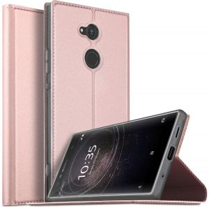 Sony Xperia XA2 Ultra case, Flip case cover for Sony Xperia XA2 Ultra, Rose Gold