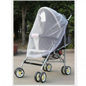 Mosquito Net For Strollers Car Seat And Infant Carrier Universal Size Bug Cover Weather Protection White