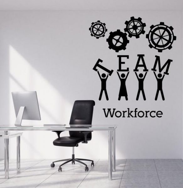 spoil your wall brand, team work quotes wall decals for living room