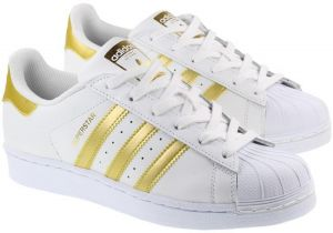 57b7727f5ca adidas Superstar Shoes for Men - White and Gold
