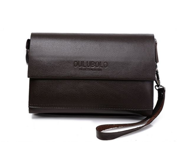 Fashion Trend Casual Genuine Leather Long paragraph Clutch bag Wallet hand  bag For Men Brown  d7b62eec8e11f