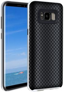 Daily Protective Case for Galaxy S8+ Stylish Blingbling Rhombus Flexible TPU Back Full Cover Shell and Reinforced Bumper Guard Commerce Sports Entertainment ...