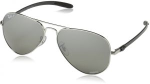 6cd95d77bf1 Ray-Ban RB8317CH Chromance Lens Aviator Sunglasses