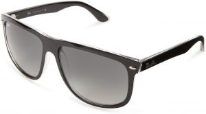 8accd8fc53 Ray-Ban RB4147 - TOP BLACK ON TRANSPARENT Frame GREY GRADIENT AZURE Lenses  60mm Non-Polarized