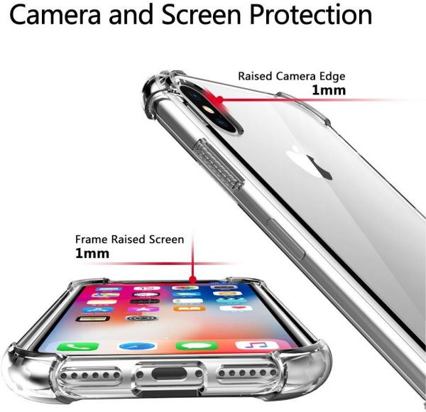 sports shoes 4f96b a90f6 HuaWei P20 Pro Case,Crystal Clear Shock Absorption Technology Bumper Soft  TPU Cover Case