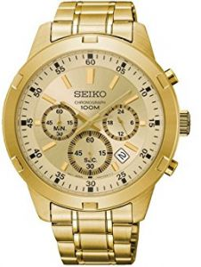 c3c6a905c Seiko Men's Gold Dial Stainless Steel Band Watch - SKS610P1