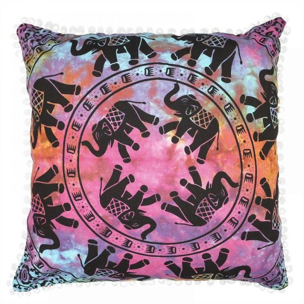 Nidhi 40x40 Cms Euro Chams Tye And Dye Multicolor Mandala With Extraordinary Multicolored Decorative Pillows