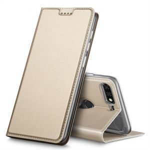 Huawei Y7 Prime 2018 case, Flip case Cover for Huawei Y7 Prime 2018, Gold