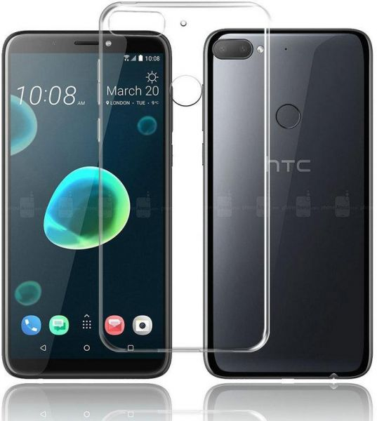 buy popular 27c40 2d46b HTC Desire 12 case Slim Clear Transparent Nature Soft TPU Silicon Cover  Cell Mobile Phone Protective Bag Shell By Muzz
