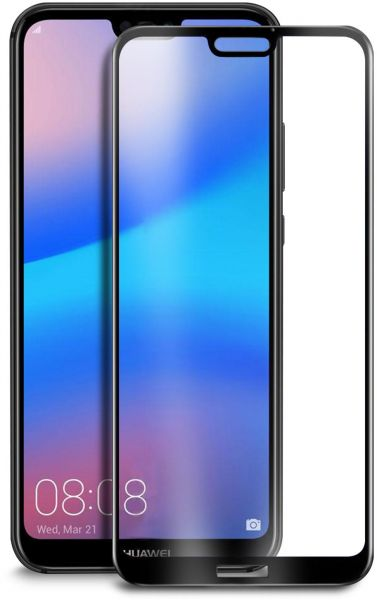 Tempered Glass Screen Protector for Huawei P20 lite, Black