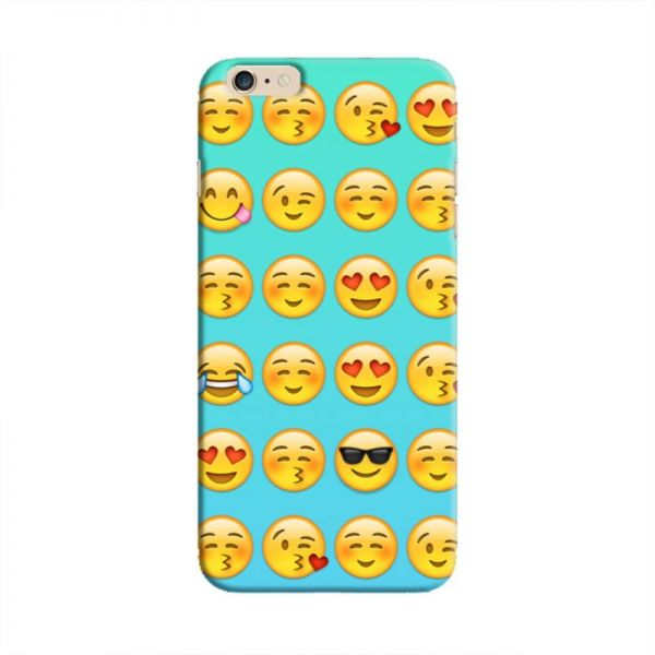 Cover It Up - Smileys Stickers Cyan iPhone 6/6sHard Case