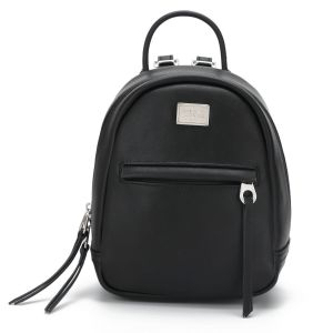 0b1f7be79bec08 DAVIDJONES Black Teens Girls Fashion Mini Cheap Leather Back pack School Bag  Travel Purse