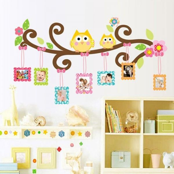 3D Owl Photo Frame Wall Stickers For Childrenu0027s Room Removable Kids Bedroom  Wall Decals Home Decor Wall Pictures | Souq   UAE