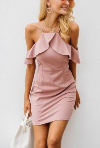 364c9d28997 Cold shoulder dress women Sexy backless split bodycon Elegant Dresses