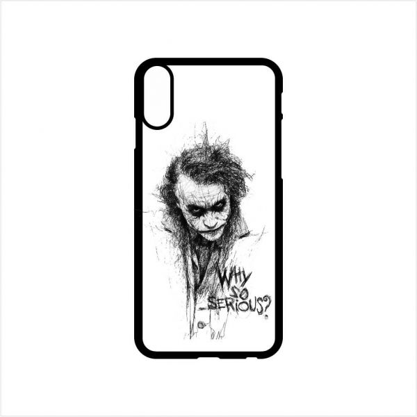 Fmstyles Iphone X Mobile Case Joker Why So Serious Pencil Sketch