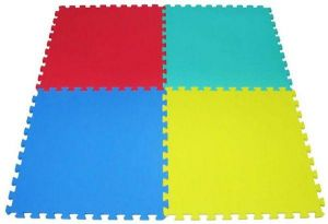Rainbowtoy Puzzle Foam Mat 4 Piece Set 1mx1mx30mm Exercise Mat Puzzel Play Plain Mat Colored for kids Activities rbw18807t30.